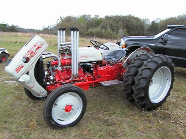 Ford N-series tractor with a Flathead V8