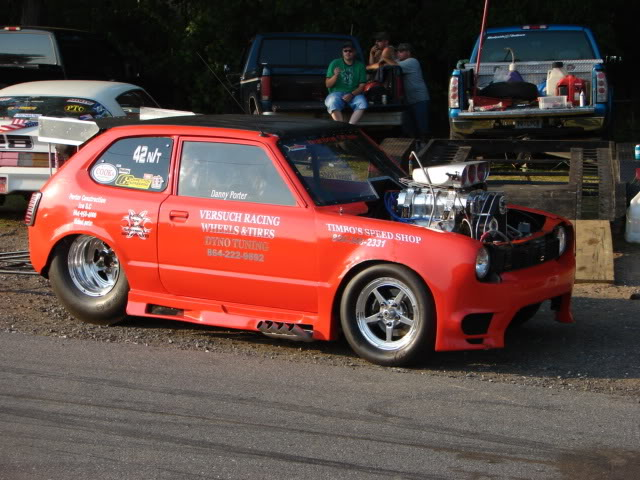 1978 Honda Civic with supercharged V8