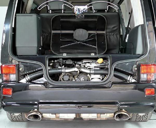 VW Transporter with Porsche turbocharged flat-six