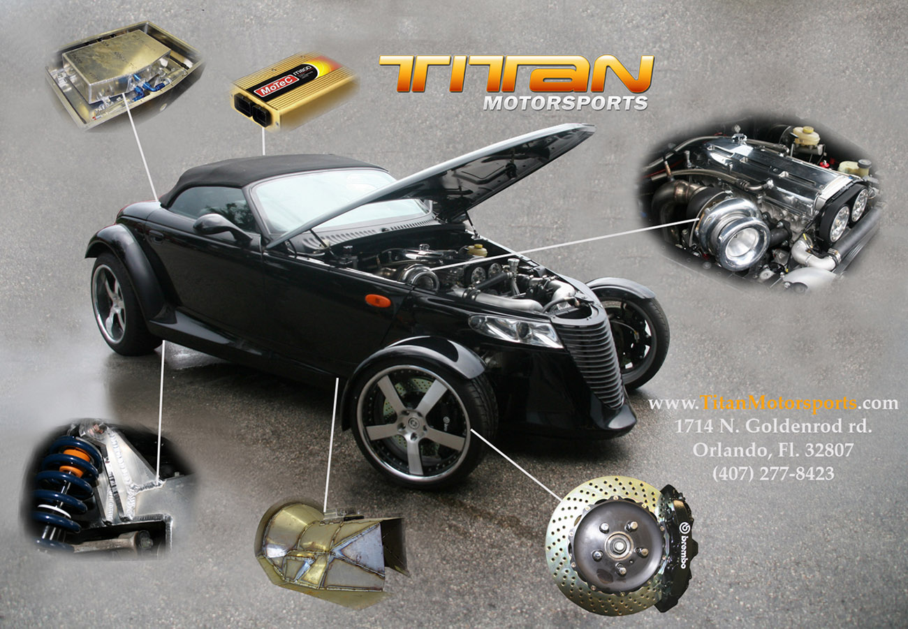 Plymouth Prowler With A Toyota 2jz Gte Engine Swap Depot Dodge Hemi Wiring Harness Titan Motorsports Is Known For Their Import Drag Cars They Work On All Kinds Of Imports But Have Lot Focus Models