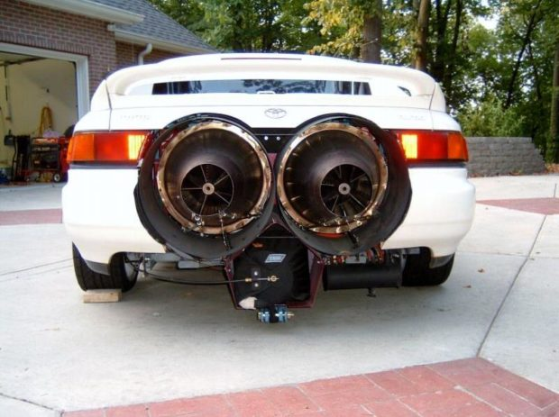 1991 Toyota MR2 with two jet turbines