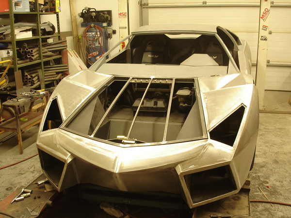 Fiero with Lambo body and Chevy V8