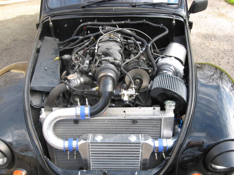 VW Beetle with a turbocharged 5.3 L LSx V8