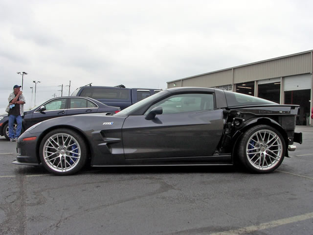 wrecked 2009 Corvette ZR1