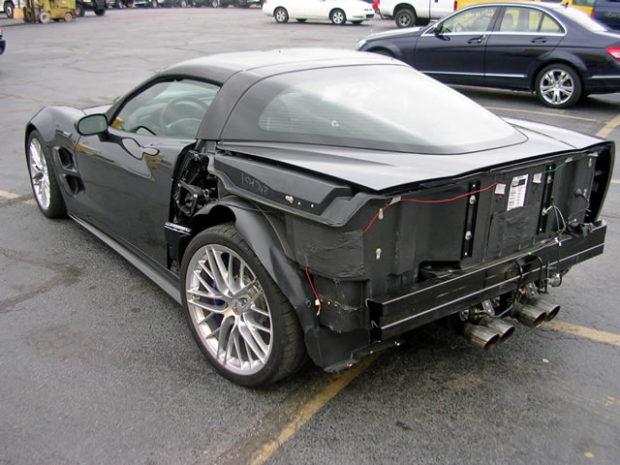 wrecked 2009 Corvette ZR1