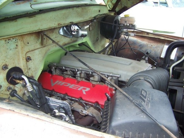 1956 Ford F 100 With A Viper V10 Engine Swap Depot