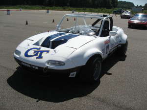 Wreck Racing Mazda Miata with a Toyota 1UZ V8