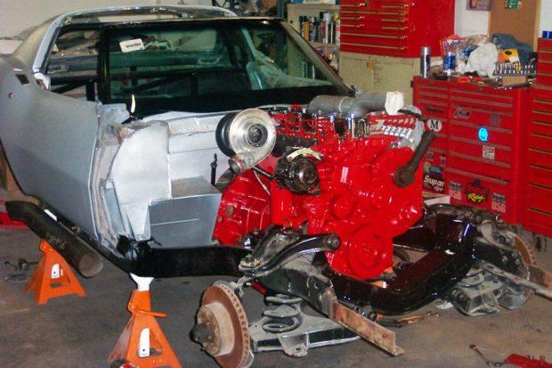 1968 Corvette with a 5.9 L Cummins diesel inline-six