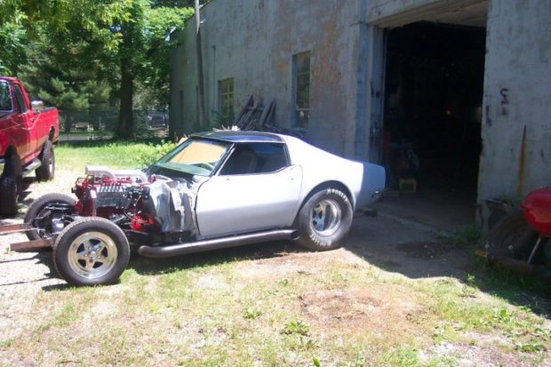 1968 Corvette with a 5.9 L Cummins diesel inline-six