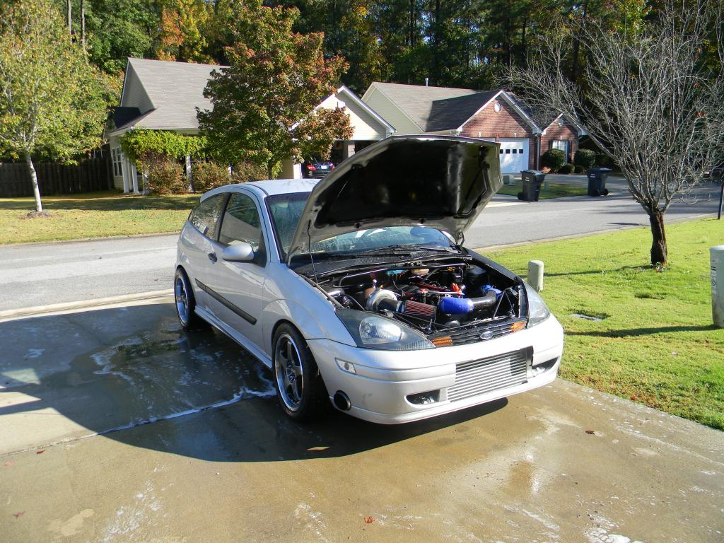 Ford Focus With A Turbo 53 L V8 Engine Swap Depot 2003 Hatch Wiring Power T76 And This Has Ton Of Under The Hood Rest Drivetrain Consists Th800 Transmission 88 Mustang Rear End