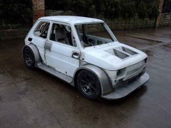 Fiat 126 with a Honda Blackbird motorcycle engine
