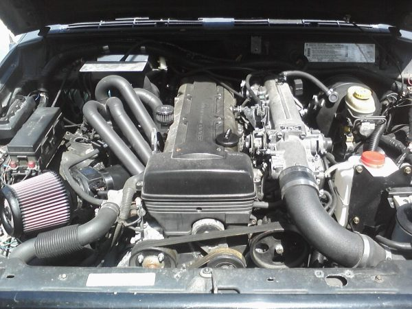 1996 Jeep Cherokee with a 2JZ-GTE inline-six