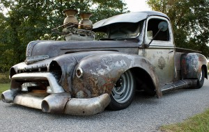 1947 Ford truck rat rod with a 454 big-block V8