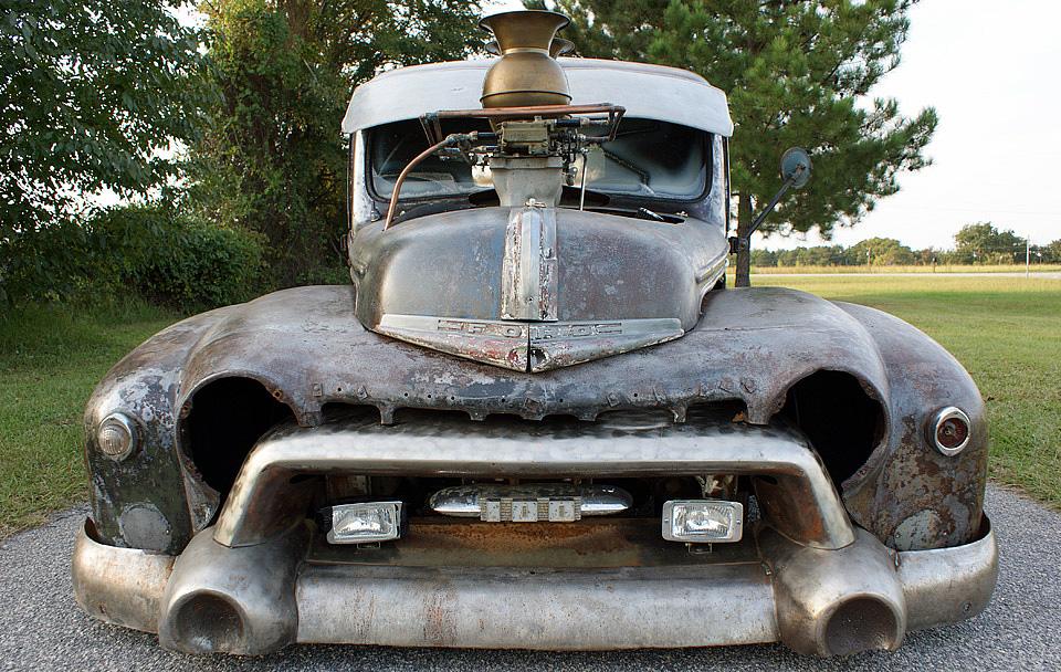 1947 Ford truck rat rod with a 454 big-block V8