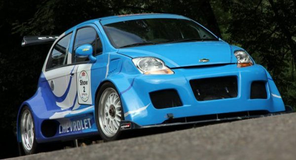 Chevy Spark Matiz with a LS7 V8