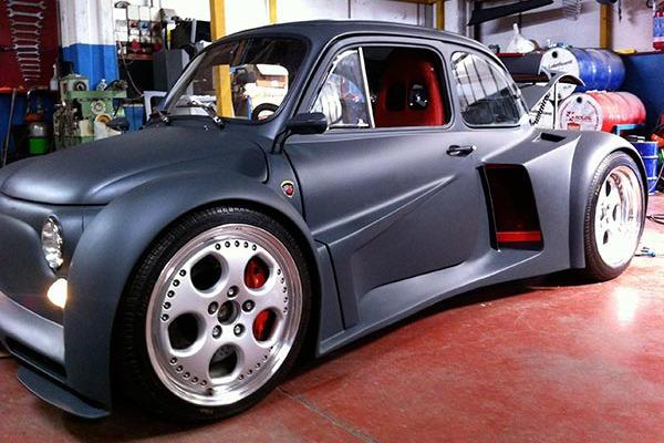 Fiat 500 with Lambo V12 Motor