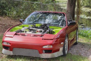 front of 1992 Nissan 240SX with Cummins diesel 4BT engine swap