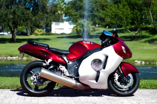 Suzuki Hayabusa with a jet turbine