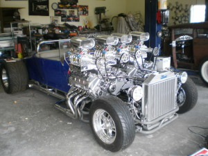 1927 Ford Model T with Two Engines and Four Superchargers