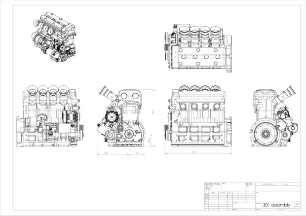 Hartley Bolt 4 inline-four diagram
