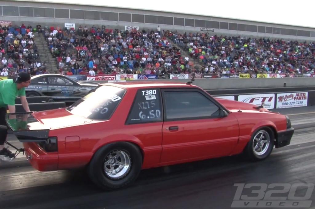 Fox Mustang powered by a Mitsubishi turbocharged  4G63 motor