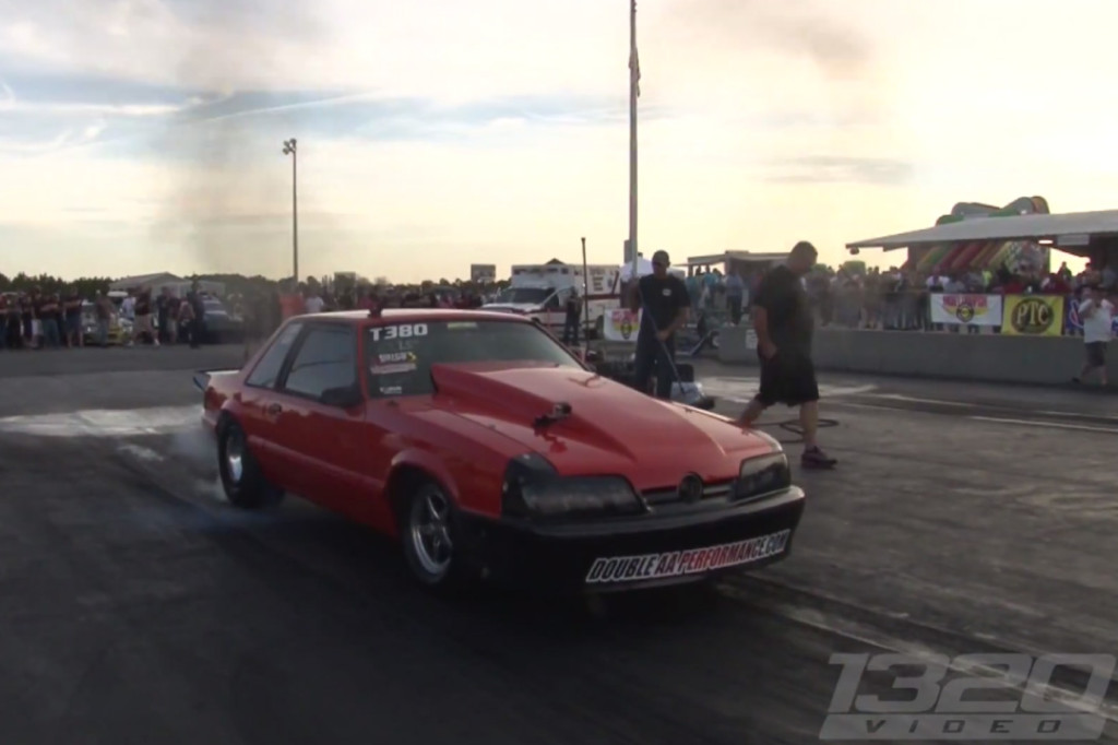 Fox Mustang powered by a Mitsubishi turbocharged  4G63 motor