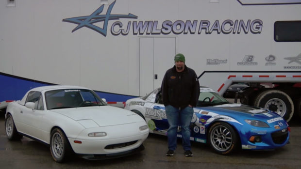 CJ Wilson Racing Mazda Miata with a 1UZ V8