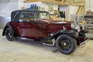 passenger-side view of 1930 Rolls-Royce with Viper V10 engine swap