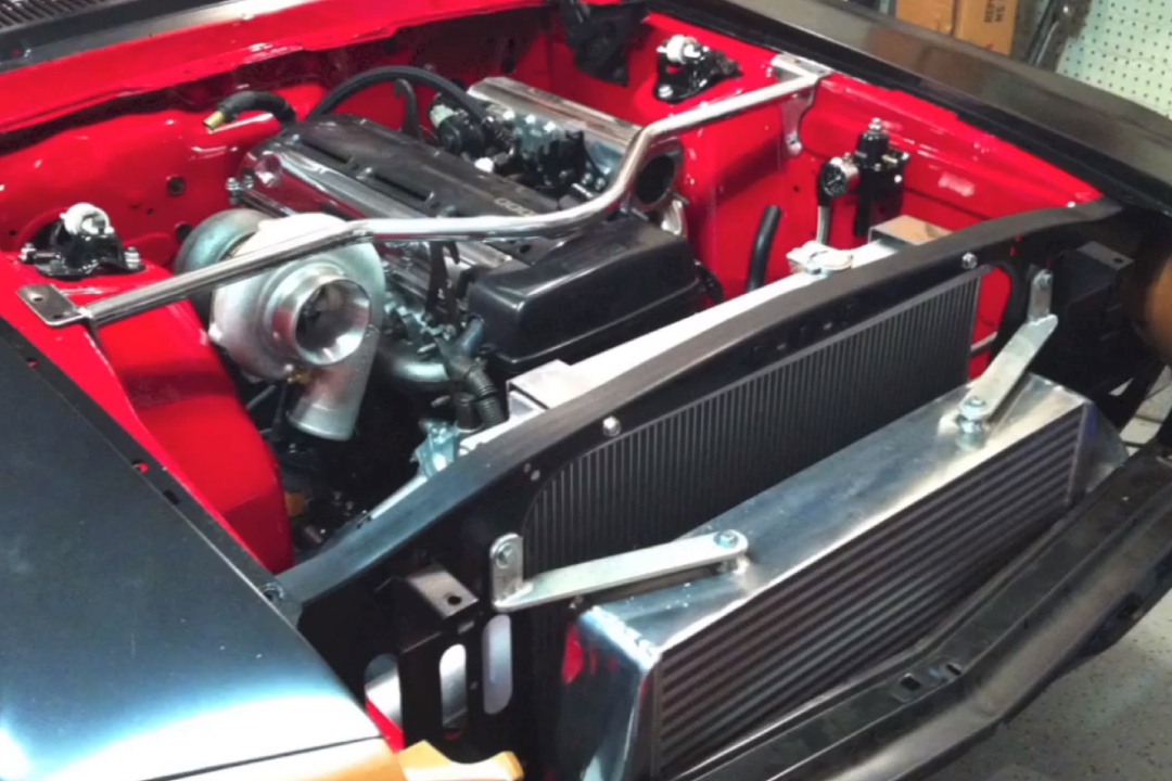 1968 Mustang With A Turbo 2jz Inline