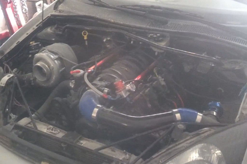 Ford Focus with turbocharged 5.3L V8