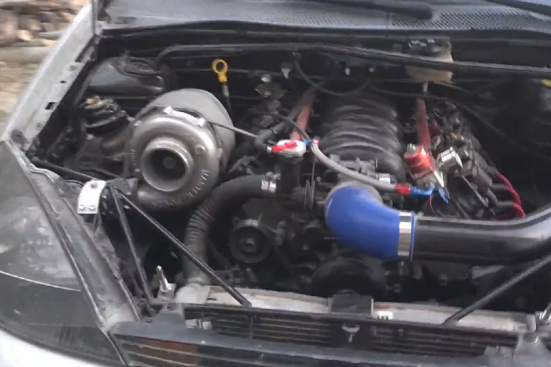 Ford Focus With A Turbo 5 3 L V8 Engine Swap Depot