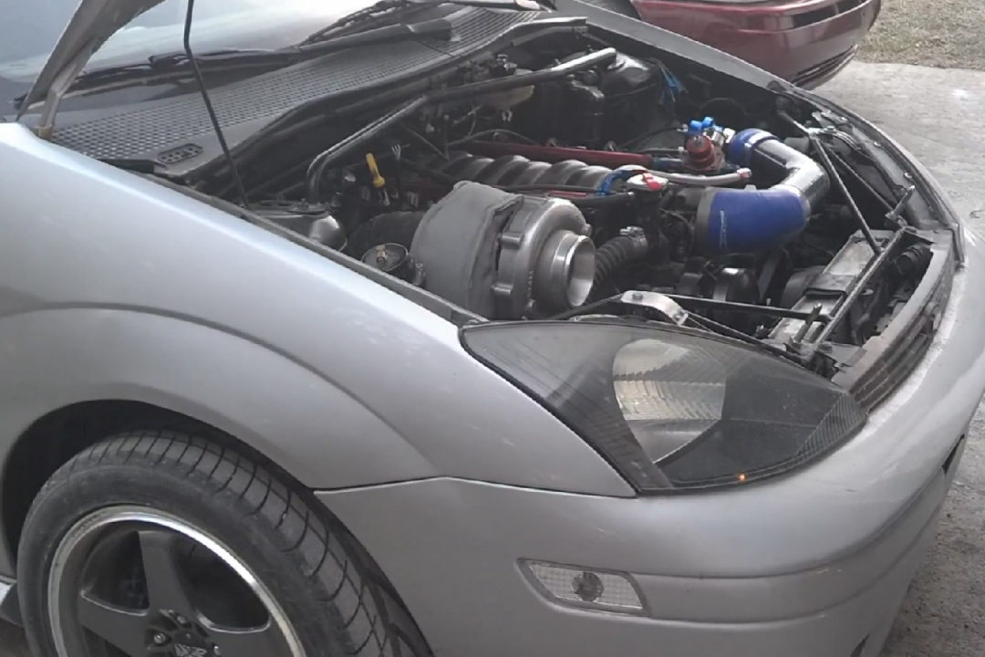 Ford Focus With Turbo Chevy V on Ls1 Performance Engine