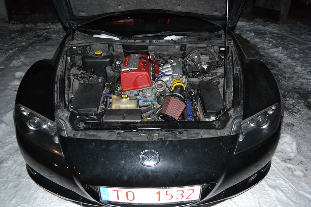 Mazda RX-8 with a Honda K20 – Engine Swap Depot