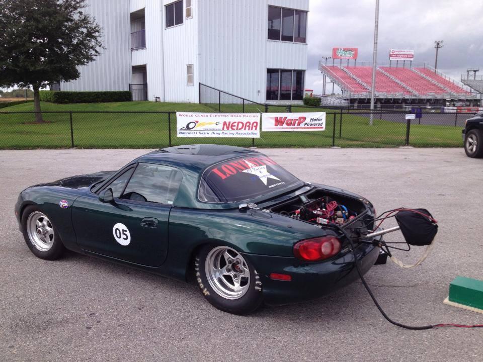 Drag Mazda Miata Ed By Two Electric Motors