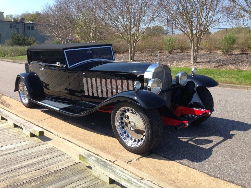 carbon fiber 1931 bugatti replica with a gmc v12 – engine swap depot