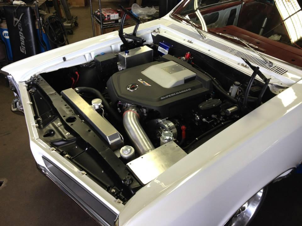 LSA inside 1966 Pontiac Le Mans engine bay