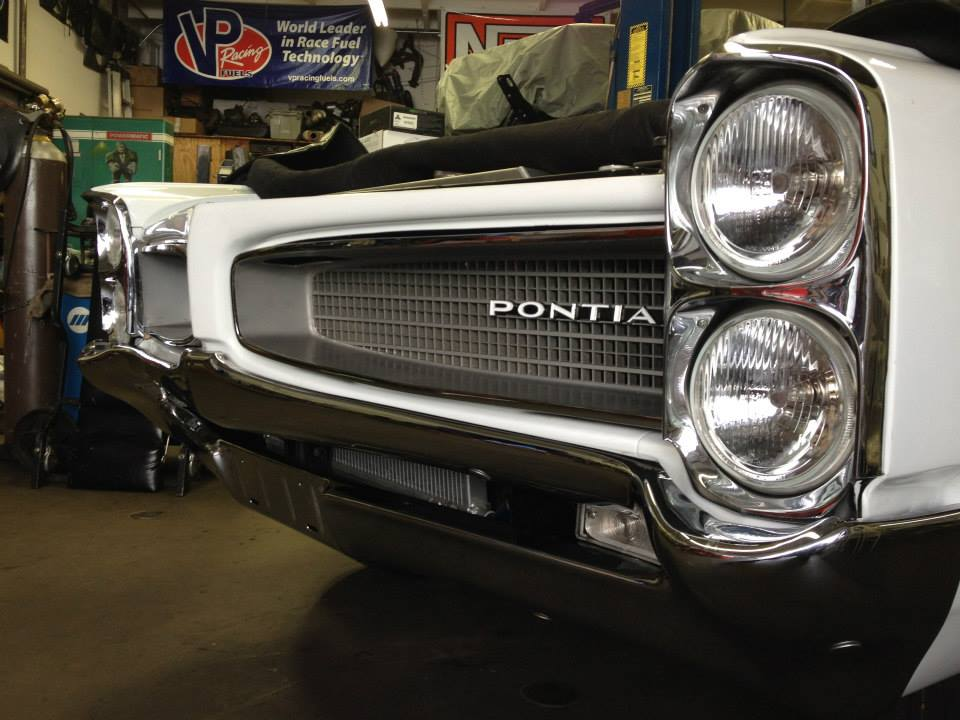front and grill of 1966 Pontiac Le Mans convertible with a LSA V8