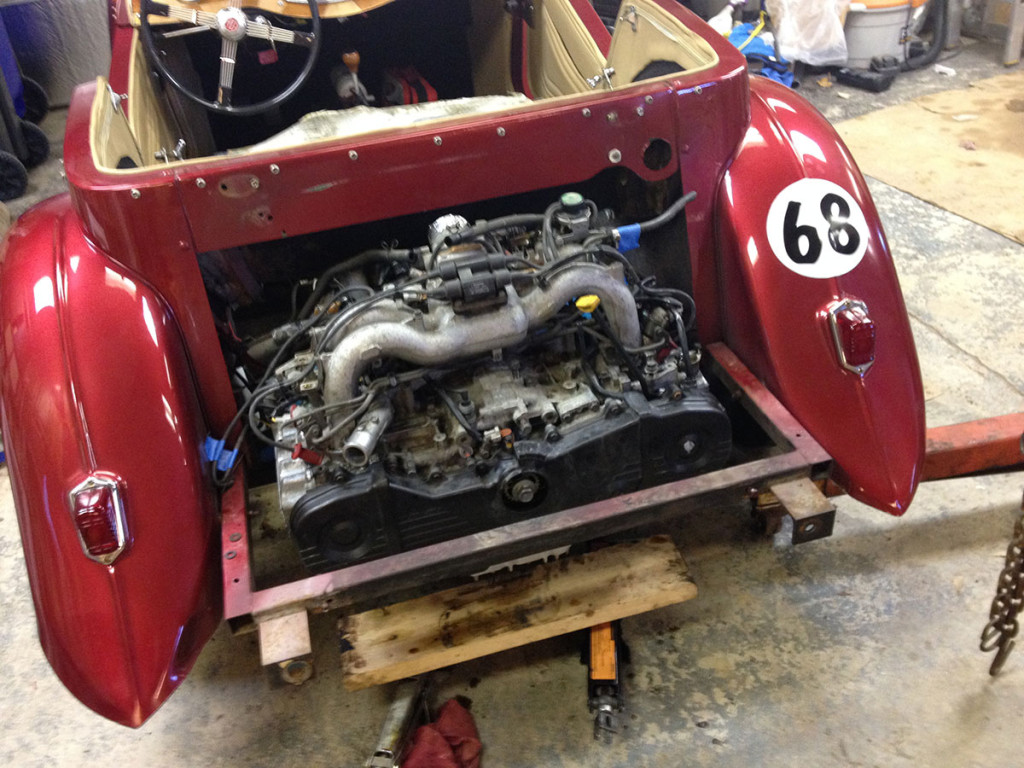 Subaru EJ22 flat-four on a 1968 Beetle chassis