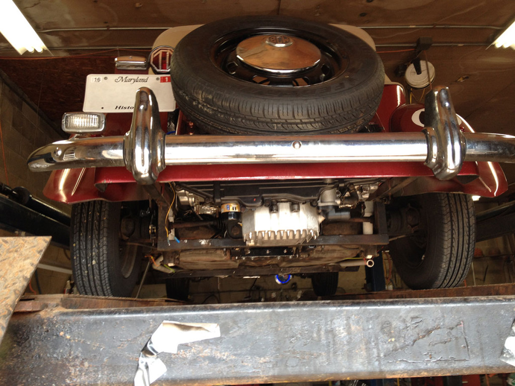 1952 MG TD Replica With A Subaru EJ22 flat-four