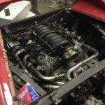 4.8L LR4 iron-block Chevy V8 inside 1976 Ferrari Dino