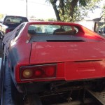 1976 Ferrari Dino being picked up for a V8 swap