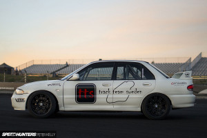 1993 Mitsubishi Lancer Evo with turbocharged LQ4 V8