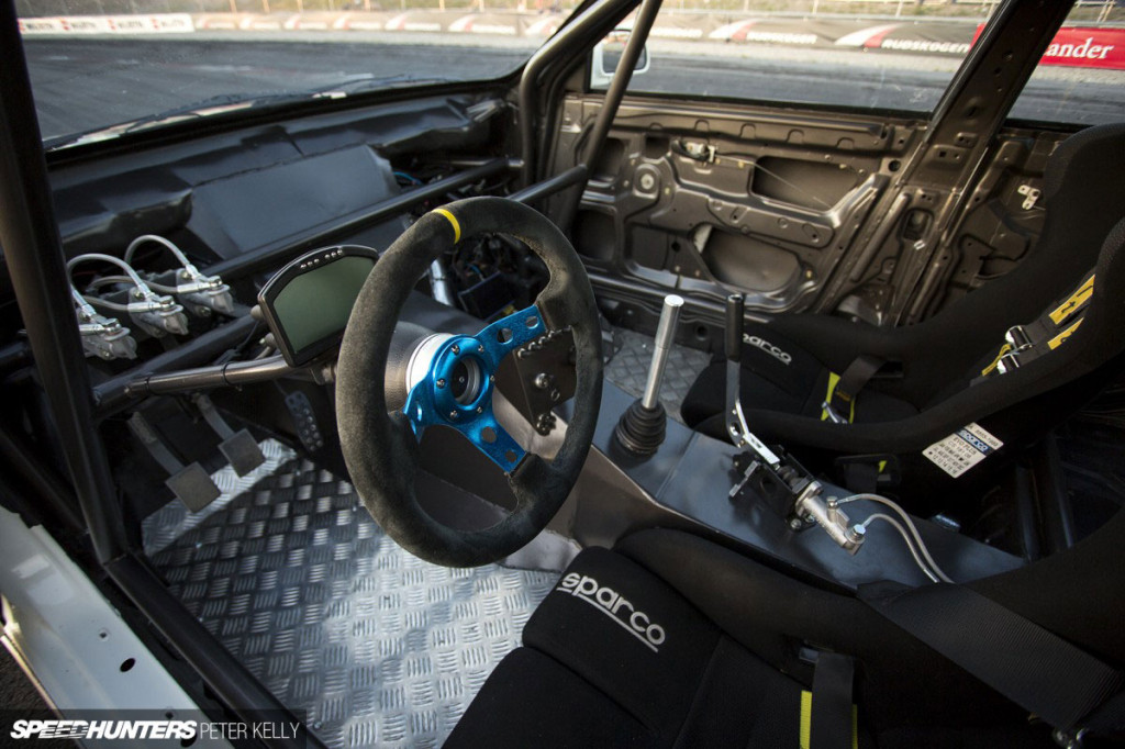 interior of a 1993 Mitsubishi Lancer Evo with turbocharged LQ4 V8