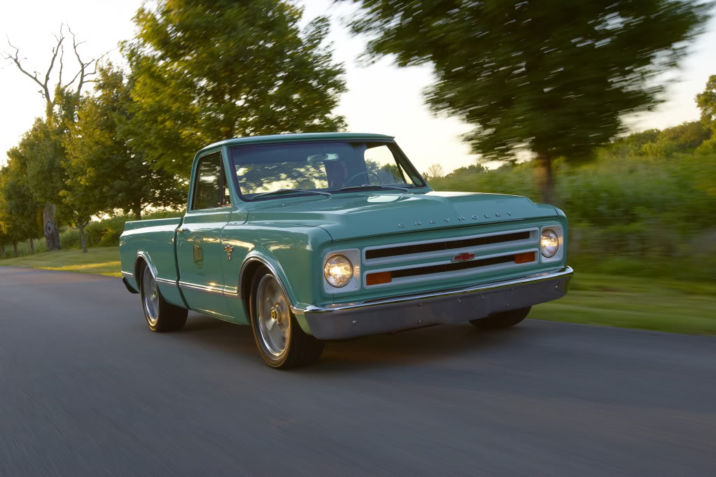Holley's 1967 Chevy C10 shop truck with a LS3 V8 swap