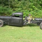 custom 1935 mid-engine truck with 350 ci V8