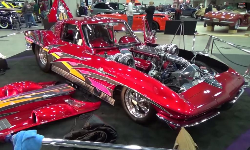 1963 Corvette with 2,600 horsepower twin-turbo 427 ci V8 - fastest street-legal Corvette in the world