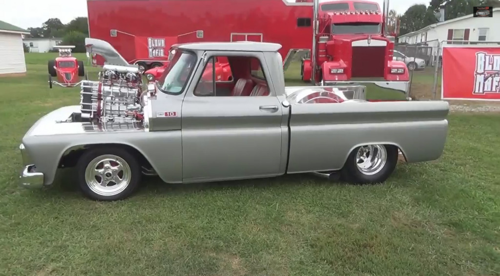Bradley Gray's twin-supercharged C10 truck