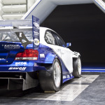 back of Georg Plasa's BMW 134 inside wind tunnel