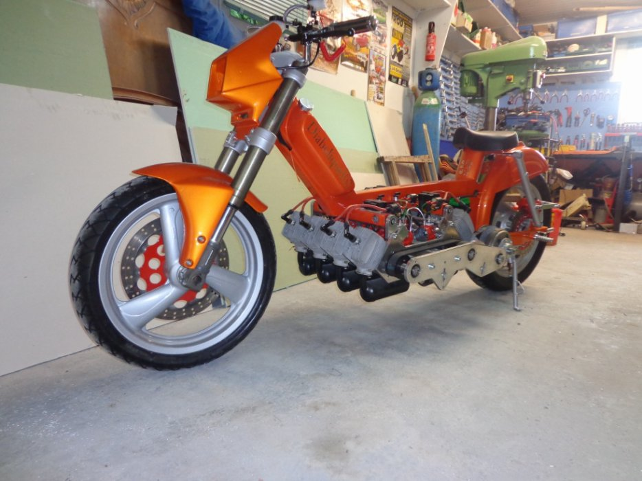 Peugeot Moped With A V8 – Engine Swap Depot
