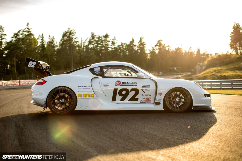 Finn Arne Sivertsen's highly customized 1998 Porsche Boxster with twin-turbo M28.41 V8